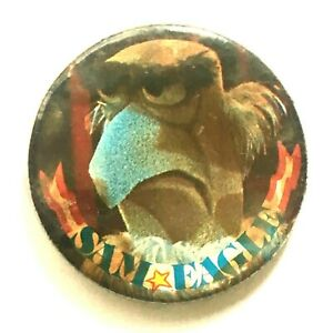 Sam-Eagle-The-Muppet-Show-Viejo-Og-Vtg-1970-S-Boton-Pin-Insignia-37mm