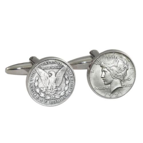 1 Dollar Manschettenknöpfe Geschenkkarton Usd Liberty Head Amerikaner $ $ Ein