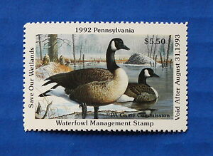 U-S-PA10-1992-Pennsylvania-State-Duck-Stamp-MNH