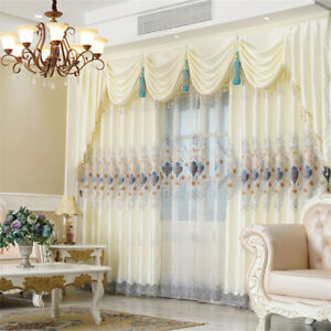 Image Is Loading Luxury European Water Soluble Embroidery White Cloth Curtain