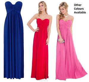 Goddess-Goddiva-Long-Grecian-Strapless-Evening-Party-Prom-Maxi-Dress-Bridesmaid
