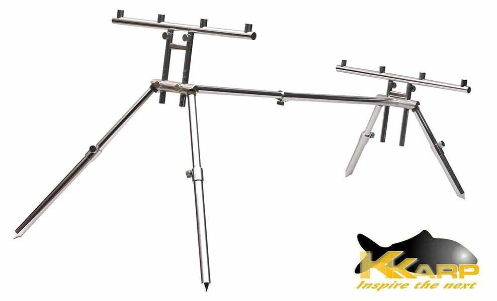 19200320 Supporto per Canne Pesca K-Karp XTR Rod Pod Alluminio  FEU