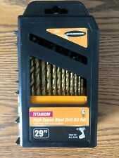 "Packs 2 X 10 Pc of 1//16/"" Titanium-Nitrite Coated Carbide High Speed Drill Bits"