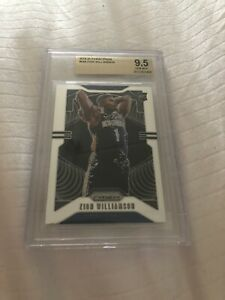 ZION WILLIAMSON 2019/20 PANINI PRIZM #248 RC ROOKIE PELICANS SP BGS 9.5 GEM MINT