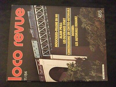 "**av1 Loco Revue N°465 Ligne Mouchard Frasne H0 / La "" Mère Denis "" Du Rail In Corto Rifornimento"