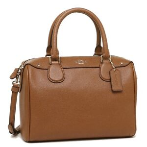 Coach-Mini-Bennett-Crossbody-Satchel-Bag-Crossgrain-Leather-Saddle-COD-PayPal