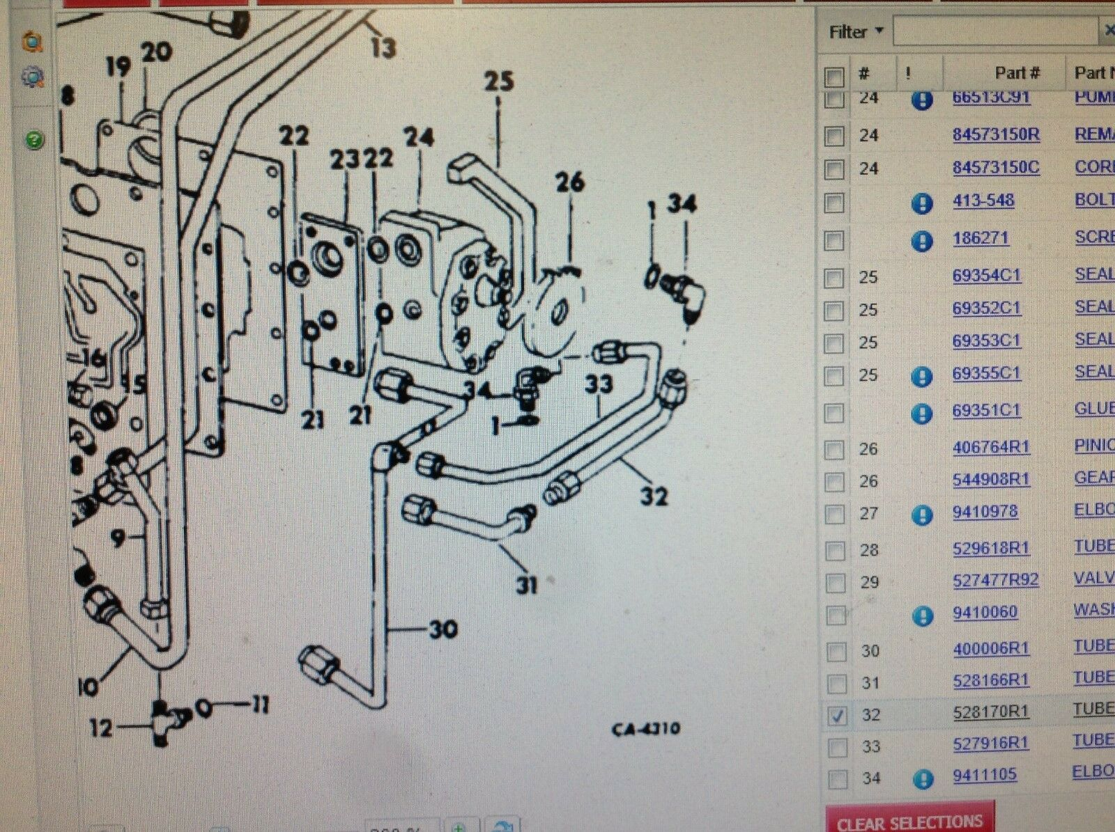 528170r1 a hydraulic tube for an ih 454 464 574 674 2400a tractors rh ebay com IH Tractor Wiring Diagram International 4700 Wiring Diagram PDF
