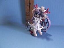 "#425 Bandai Moe a la Mode Deus Machina Demonbane 3""in Long Purple Haired Girl"