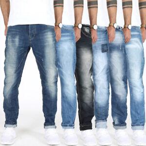 Herren-Designer-Regular-Fit-Jeans-Hose-Tapered-Leg-Cropped-Comfort-Fit