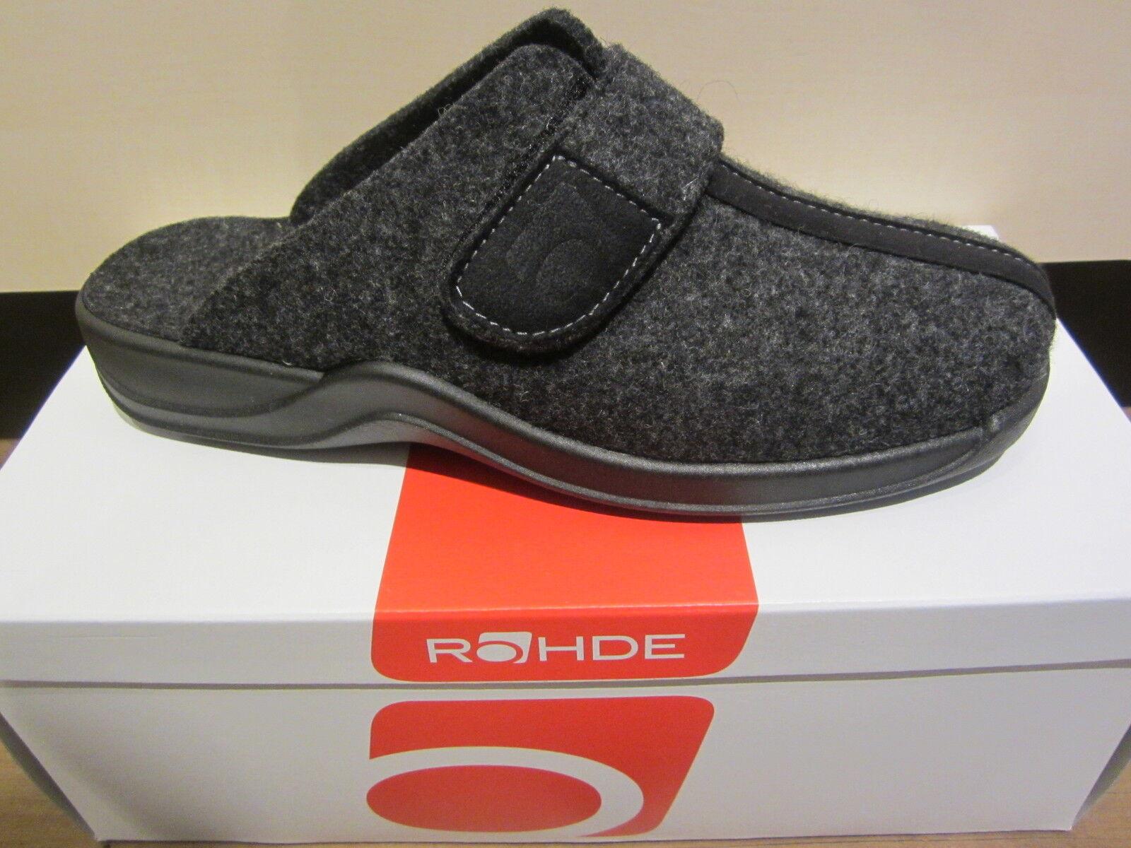 Pantofole da uomo Rohde uomo pantofola con feltro morbido, Nero NUOVO