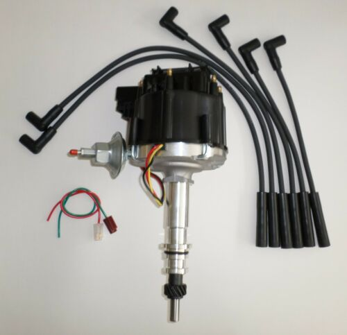 FORD Inline 6 cylinder 64-83 170,200,250 HEI Distributor /& BLACK Spark Plug Wire