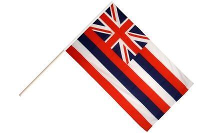 Stockflagge Stockfahne USA Hawaii 60x90cm Fahne Flagge mit Stock