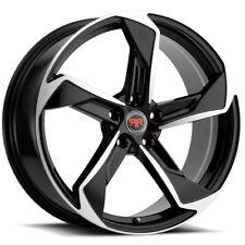 4 Revolution R20 20x8 5x45 40mm Blackmachined Wheels Rims 20 Inch Fits Toyota
