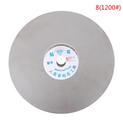 "6/"" 150mm Diamond Coated Flat Lap Disc Jewelry Polish Grinding Wheel 80~3000 NL"