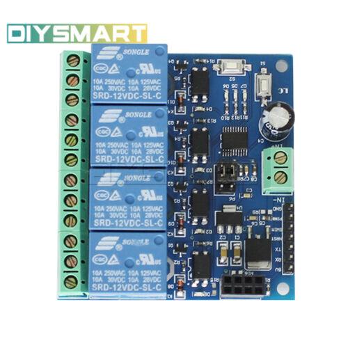 4CH ESP8266 12V WiFi Relay Smart Home Mobile APP Remote Control Switch AU