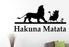 Hakuna Matata Wall Decal Lion King Vinyl Sticker Disney Art Kids Room Decor 1eyh