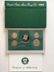 USA-1995-Proof-Set-San-Francisco-Original-Box-PP-polierte-Platte-1c-50c
