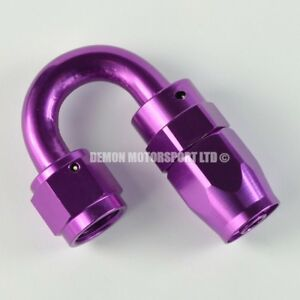 AN6-6-6AN-180-Degree-Braided-Hose-Fitting-JIC-Purple-Oil-Fuel-Water