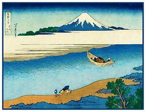 Hokusai-Tama-River-Mt-Fuji-Counted-Cross-Stitch-Pattern