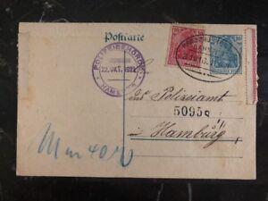 1921 Hamburg Germany PS Postcard Cover Domestic Used