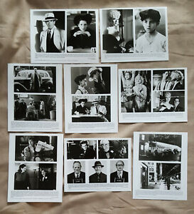 1990-Dick-Tracy-movie-lot-8-press-kit-8x10-B-amp-W-photos-Warren-Beatty-Madonna