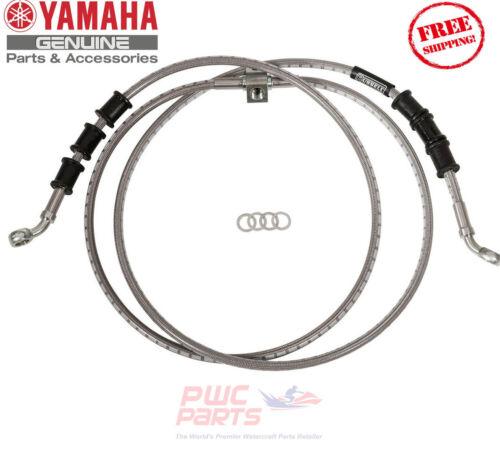 SS OEM GYTR® Stainless Steel Rear Brake Lines B57-F58A0-V0-00 YAMAHA YXZ1000R