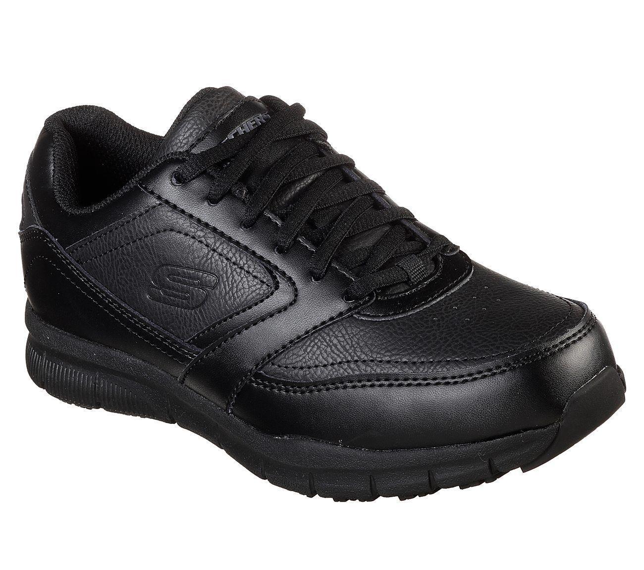 Work Black Skechers shoes Women 77235 Memory Memory Memory Foam Slip Resistant Electrical Safe bc87a0