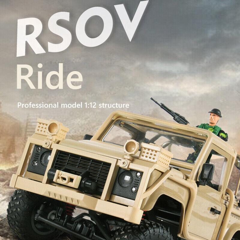 1 12 4WD 2.4G RC Control Remoto Coche escalando Off-Road Mini Coche Listo para correr Camión Vehículo