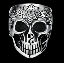 1pc New 316L Fashion Steel Silver Men's Skull Harley Biker Jewelry Ring size10
