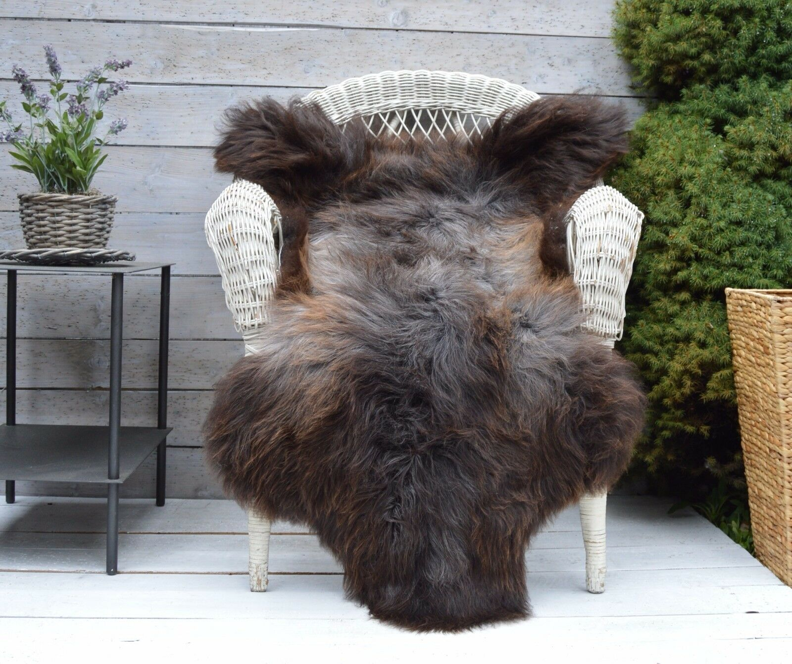 Luxury Sheepskin Rug, Throw, Blanket, Blanket, Blanket, Very Rare Breed Multicolour - Größe XL bf3e14