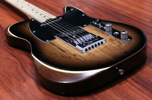 Halo Guitars Salvus 6 String Greg Koch Gristle-Tone Pickup Set Evertune Bridge