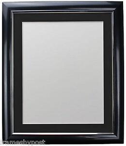 Soda Charcoal Retro Style Pic Photo Frame White Black Ivory Blue Pink Grey Mount