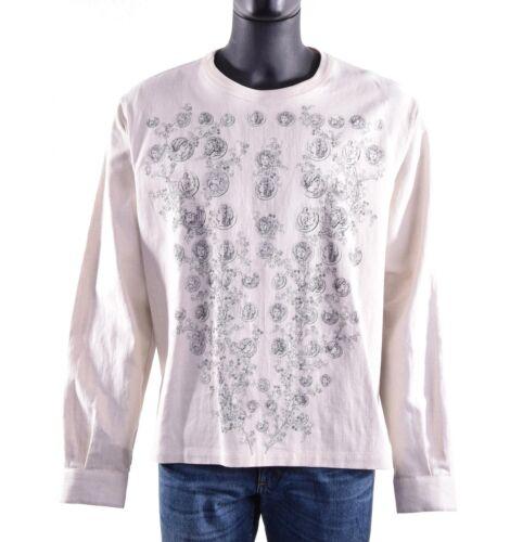 pièces et Fleurs Print Beige 05691 DOLCE /& GABBANA lin T-shirt US M