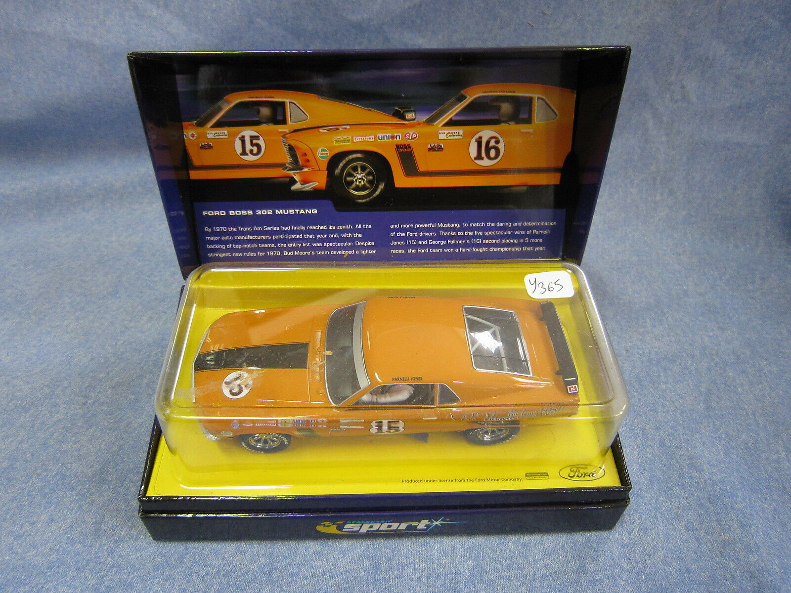 Y365 HORNBY SCALEXTRIC SPORT FORD BOSS 302 MUSTANG  15 1970 BUD MOORE'S TEAM