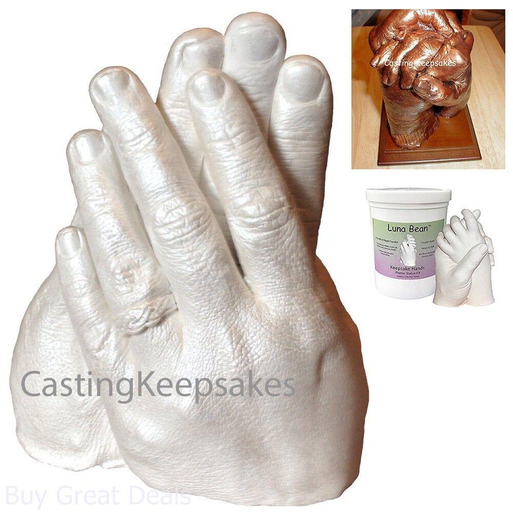 DIY Plaster Statue Molding Kit Large Anniversary Friends Adult /& Child 19x18x16cm Wedding HuiKai Keepsake Hands Casting Kit Hand Holding Craft for Couples