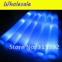 12/24/60 Pcs Led Foam Sticks Flashing Rally Rave Party Light Up Glow Baton Wands