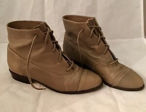 bdde48ab95 Vtg 9West 80's Genuine Leather Womens Ankle Boots Sz 7.5 Brazil ...