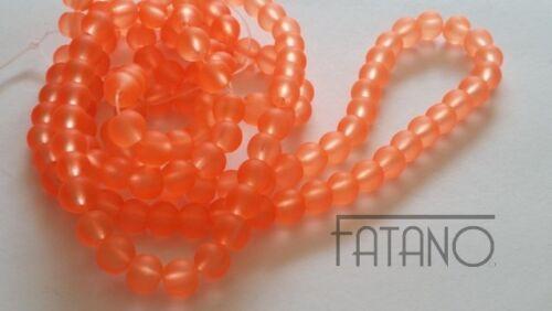 Abalorios gefrostet 6 mm Orange 135 trozo de bala joyas bricolaje perlas k131