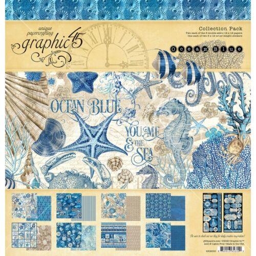 """Gráfico 45-Ocean Blue 12/"""" X 12/"""" Paquete De Colección"""
