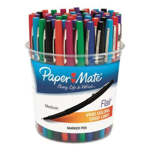 Sanford 4651 Flair Felt Tip Marker Pen, Assorted Ink, Medium, 48 Pens set