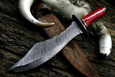 Damascus Steel Custom Handmade Imported Wood Handle hunting knife