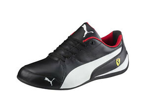 12924dc303f Puma Men s SCUDERIA FERRARI DRIFT CAT 7 Shoes Black White 305998-02 ...