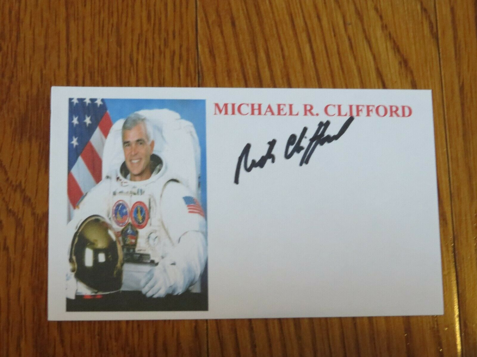 s l1600 - Michael Clifford Autographed 3x5 Card Hand Signed Space NASA Astronaut