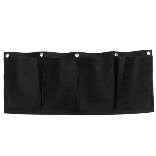Non-woven Fabrics Horizontal Hanging Wall Garden 4 Pockets Planting Bags G7J2