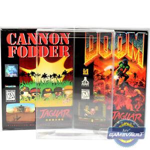 3 X Boîte Protections Pour Atari Jaguar Jeux Forte 0.5 Mm En Plastique Pet Display Case-afficher Le Titre D'origine Jasbxz7g-07184051-566619299
