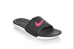 188f3cca43748 New Womens Nike Kawa Slide Sandals Style 834588-060 Black Vivid Pink ...