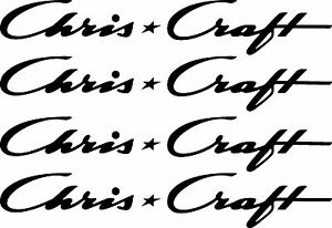 "4 Chris Craft decals 8"" FREE SHIPPING"