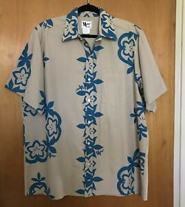 Mamo-Howell-Mens-Aloha-Shirt-2XL-Hawaiian-Button-Down-Floral-Island-Tiki-Warrior