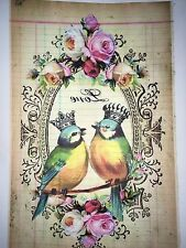 1 perchas imagen din a4 pájaro nº 97 vintage nostalgia helle lámina de transferencia Shabby