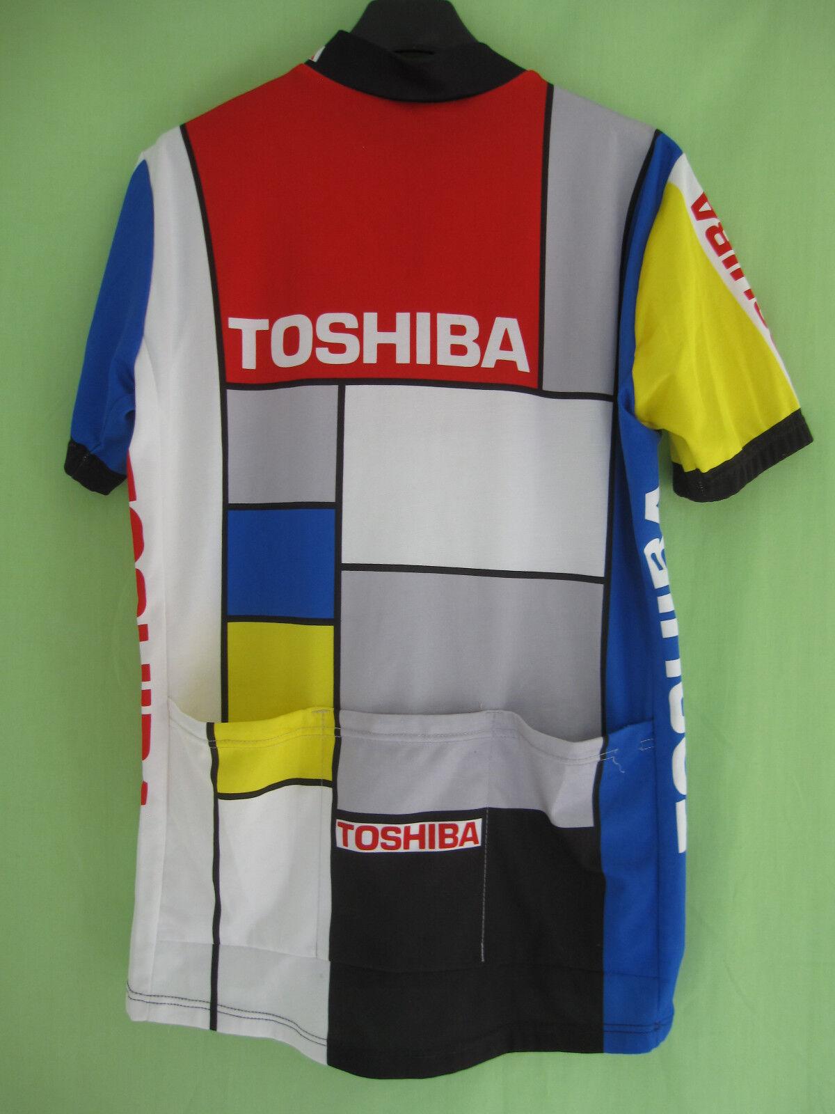 Maillot Tour cycliste Toshiba Tour Maillot Pro 1989 ASSOS Vintage Jersey Cycling - XL 0fe162